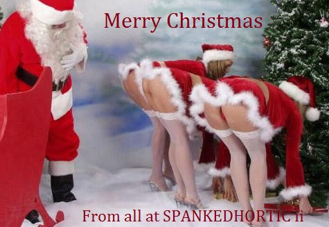 christmas bums SPANKEDHORTIC