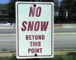 No snow isign